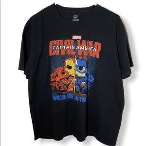 X-large Civil War Captain America t-shirt